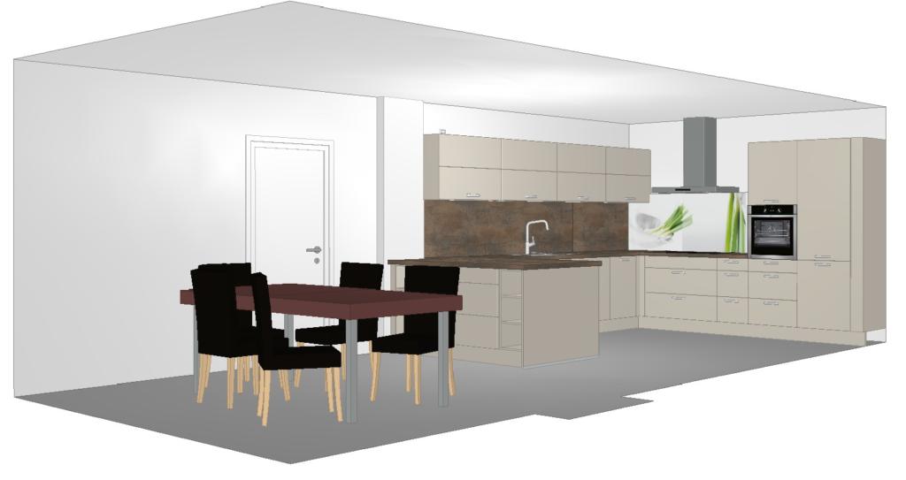 3D-Küchenprogramm für Einbauküche