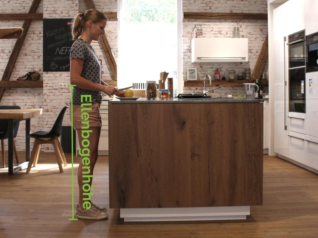Was ist die ideale Höhe der Küchenarbeitsplatte? - Ihr Küchenstudio ...