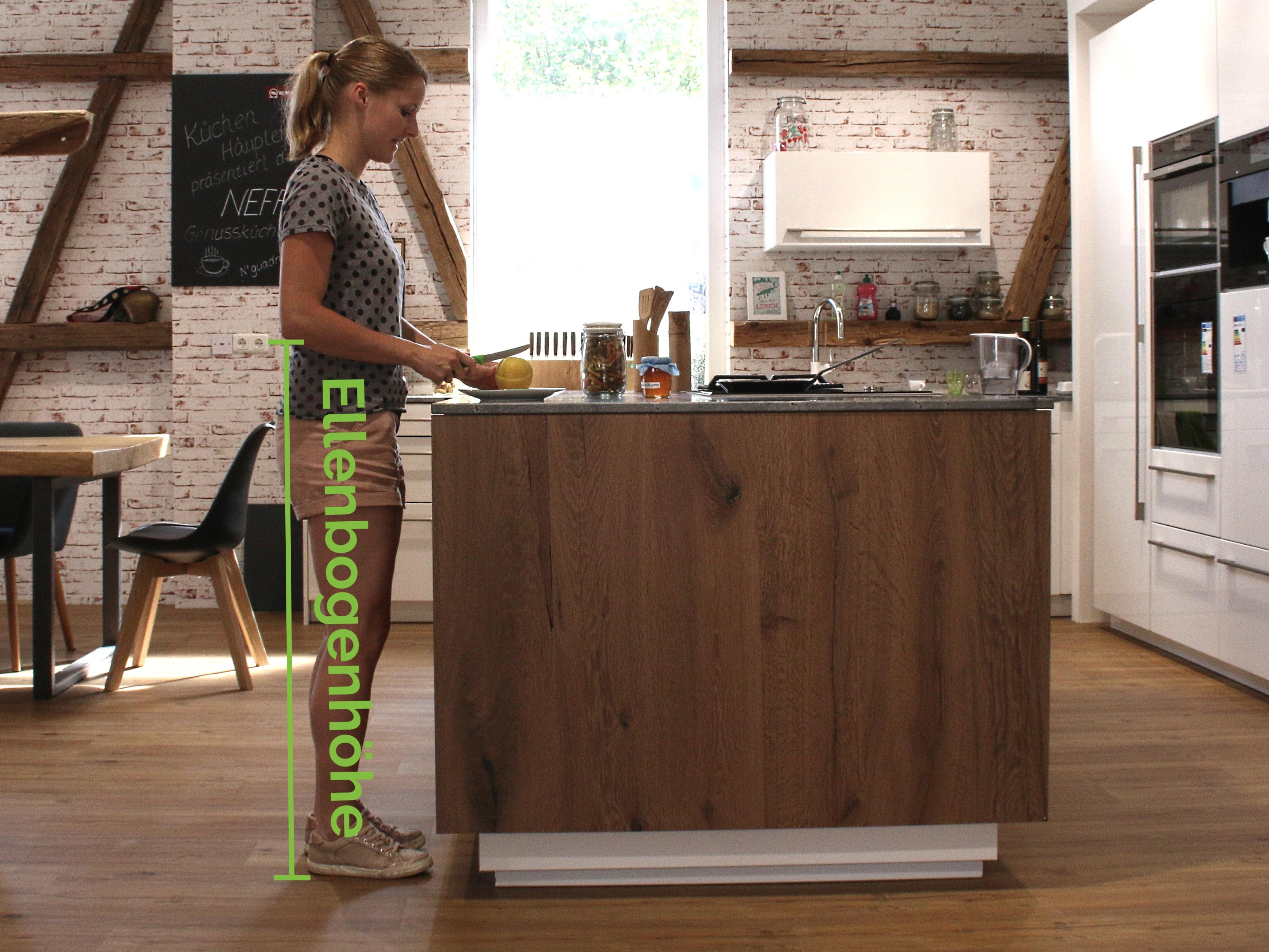Was ist die ideale Höhe der Küchenarbeitsplatte? - Ihr