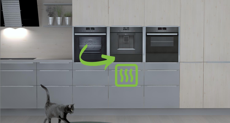 Wärmeschublade in der Küche